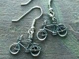 Classic Bicycle silver earrings