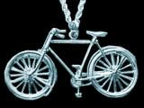 Classic Gents Bicycle pendant (silver)