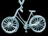Classic Ladies Bicycle pendant (silver)